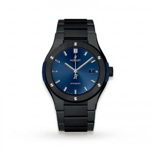 Hublot Classic Fusion Ceramic Blue Bracelet 548.CM.7170.CM 42mm