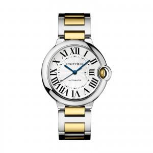 Ballon Bleu de Cartier watch 36 mm 18K gold and steel