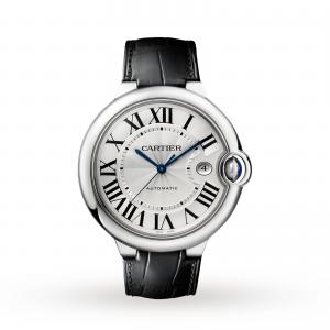Ballon Bleu de Cartier watch 42 mm steel leather