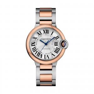 Ballon Bleu de Cartier watch 36 mm 18K pink gold and steel