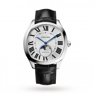 Drive de Cartier Moon Phases watch Steel leather