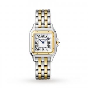 Panthère de Cartier watch Medium model yellow gold and steel