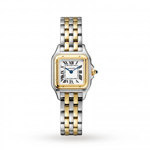Panthère de Cartier watch Small model yellow gold and steel