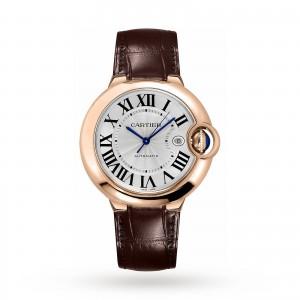 Ballon Bleu de Cartier watch 42 mm pink gold leather sapphire