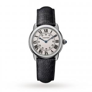 Ronde Solo de Cartier watch 29mm steel leather