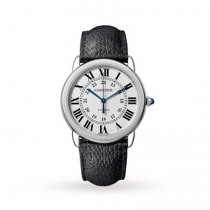 Ronde Solo de Cartier watch 36mm steel leather