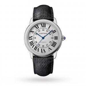 Ronde Solo de Cartier watch 42mm steel leather