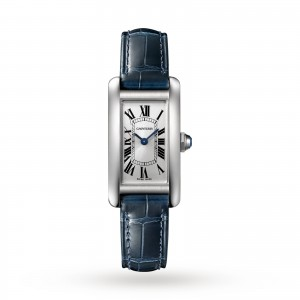 Tank Américaine watch Small model steel leather