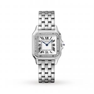 Panthère de Cartier watch Medium model steel diamonds