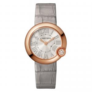 Ballon Blanc de Cartier watch 30 mm rose gold diamond leather