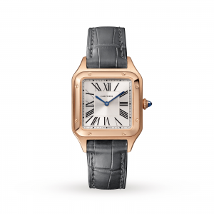 Santos-Dumont watch Small model pink gold leather