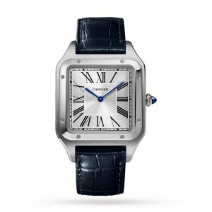 Santos-Dumont watch XL model steel leather strap