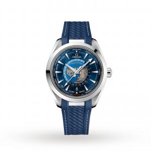 Omega Aqua Terra 150M Omega Co‑Axial Master Chronometer GMT Worldtimer 43mm