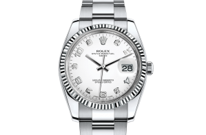 Rolex Date Oyster 34 mm Oystersteel and white gold 115234-0010