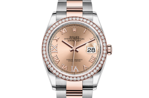 Rolex Datejust Oyster 36 mm Oystersteel Everose gold and diamonds 126281rbr-0016