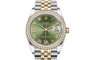 Rolex Datejust Oyster 36 mm Oystersteel yellow gold and diamonds 126283rbr-0011