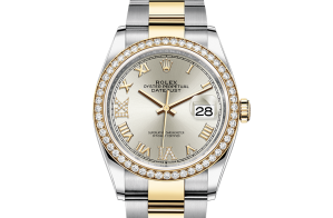Rolex Datejust Oyster 36 mm Oystersteel yellow gold and diamonds 126283rbr-0018