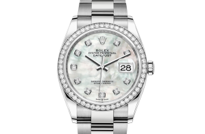 Rolex Datejust Oyster 36 mm Oystersteel white gold and diamonds 126284rbr-0012