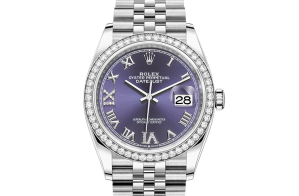 Rolex Datejust Oyster 36 mm Oystersteel white gold and diamonds 126284rbr-0013