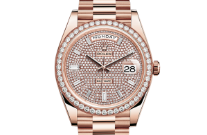 Rolex Day-Date Oyster 40 mm Everose gold and diamonds 228345rbr-0002