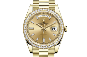 Rolex Day-Date Oyster 40 mm yellow gold and diamonds 228348rbr-0002