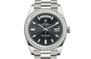 Rolex Day-Date Oyster 40 mm white gold and diamonds 228349rbr-0003