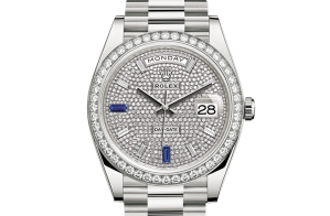 Rolex Day-Date Oyster 40 mm white gold and diamonds 228349rbr-0036