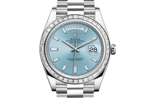 Rolex Day-Date Oyster 40 mm platinum and diamonds 228396tbr-0002