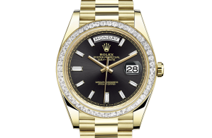 Rolex Day-Date Oyster 40 mm yellow gold and diamonds 228398tbr-0001