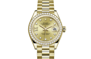 Rolex Lady-Datejust Oyster 28 mm yellow gold and diamonds 279138rbr-0006