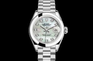 Rolex Lady-Datejust Oyster 28 mm platinum 279166-0008
