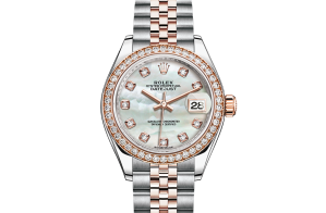 Rolex Lady-Datejust Oyster 28 mm Oystersteel Everose gold and diamonds 279381rbr-0013