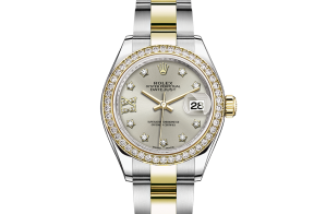 Rolex Lady-Datejust Oyster 28 mm Oystersteel yellow gold and diamonds 279383rbr-0004